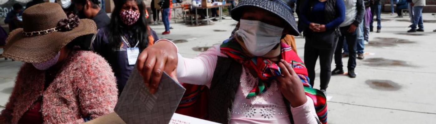Imagen: Bolivia: Elecciones en pandemia. Fuente: Diario La Voz.
